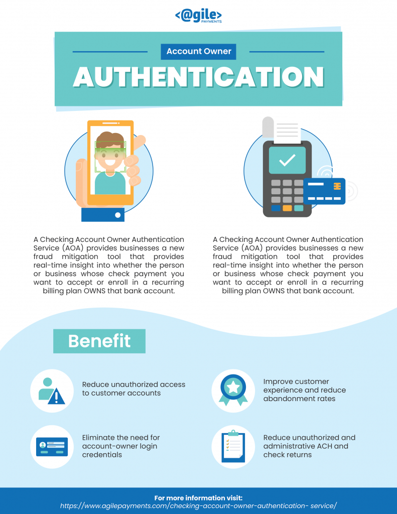 Checking Account Owner Authentication Service - 2019 | Agile